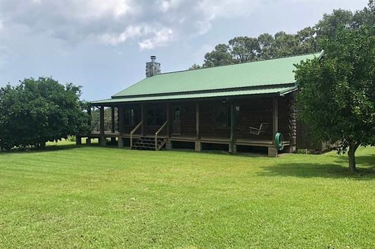 N FL MINI-RANCH WITH LOG CABIN HOME FOR SALE.