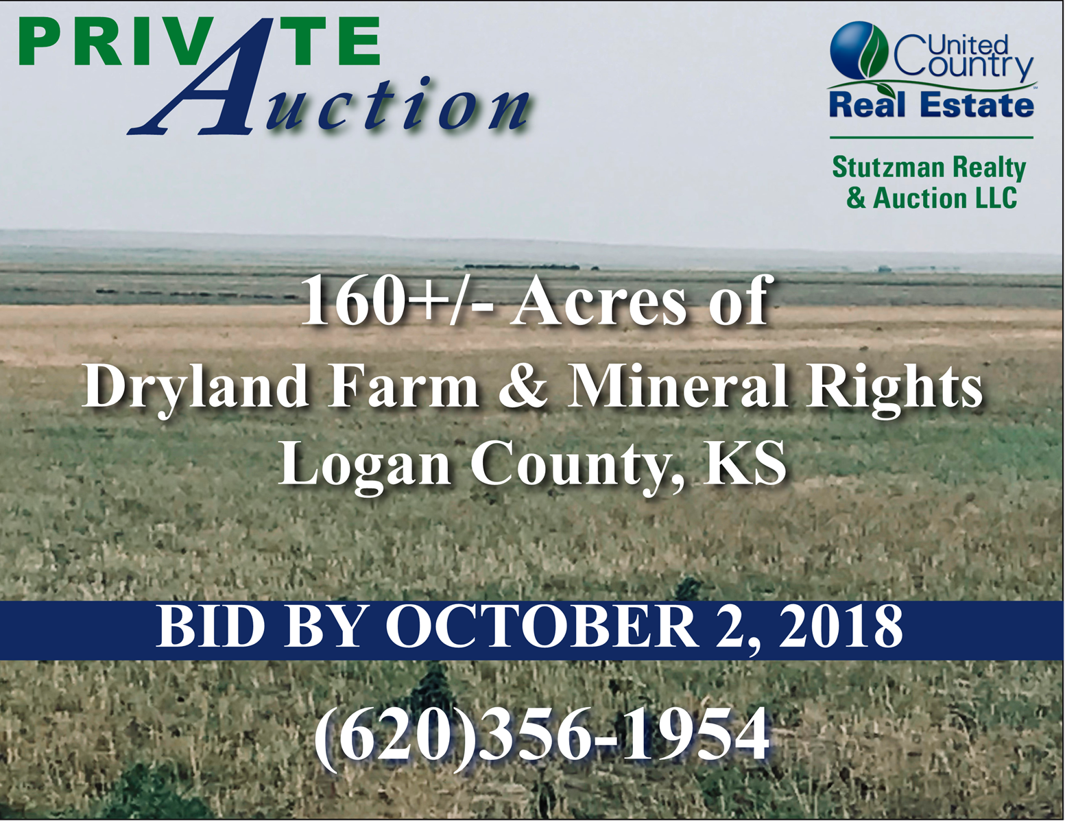 LOGAN COUNTY, KS AUCTION - 160+/- ACRE FARM & MINERAL RIGHTS