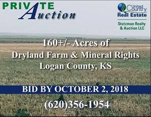 LOGAN COUNTY, KS AUCTION - 160+/- ACRE FARM & MINERAL RIGHTS