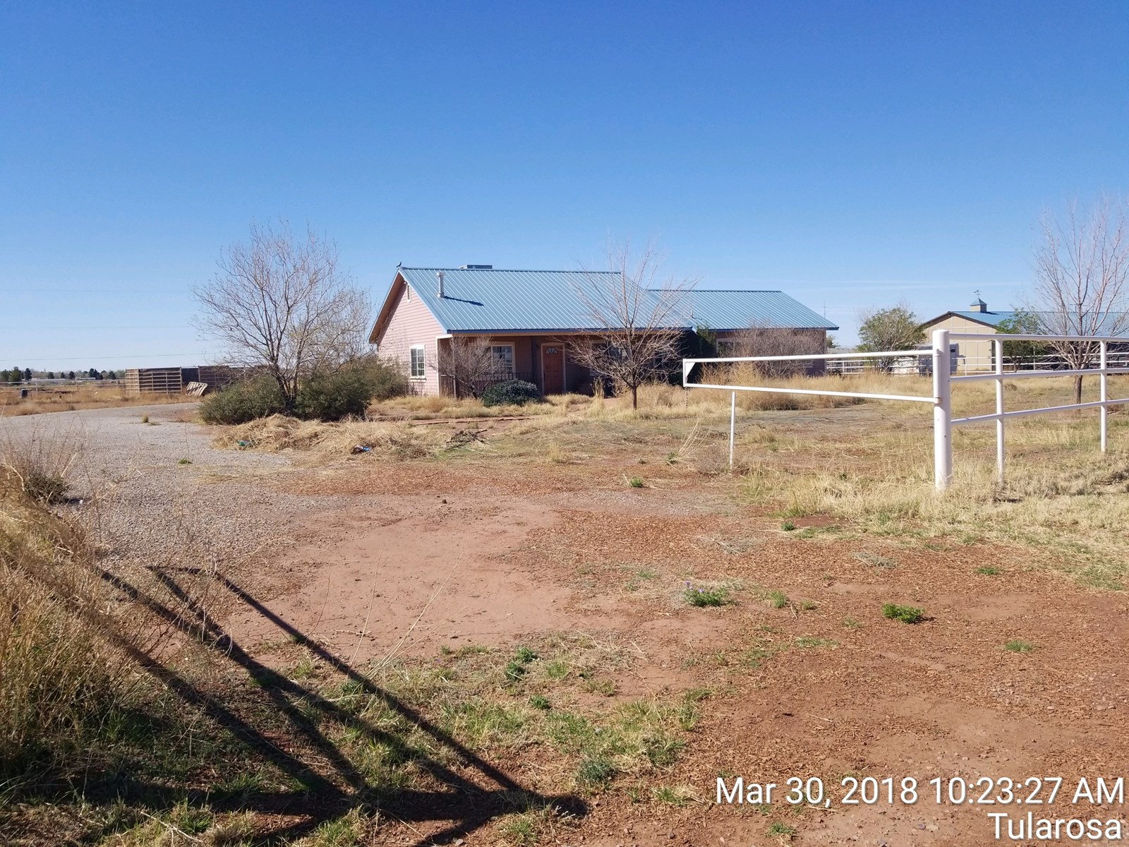 Two bedroom home with horse facilities in Tularosa NM