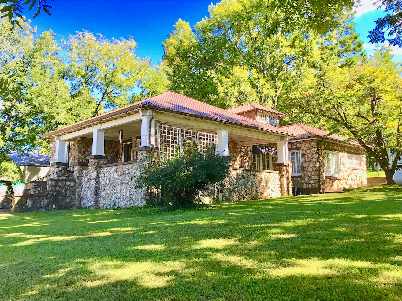 Native Stone Home Near Spring River in Arkansas For Sale