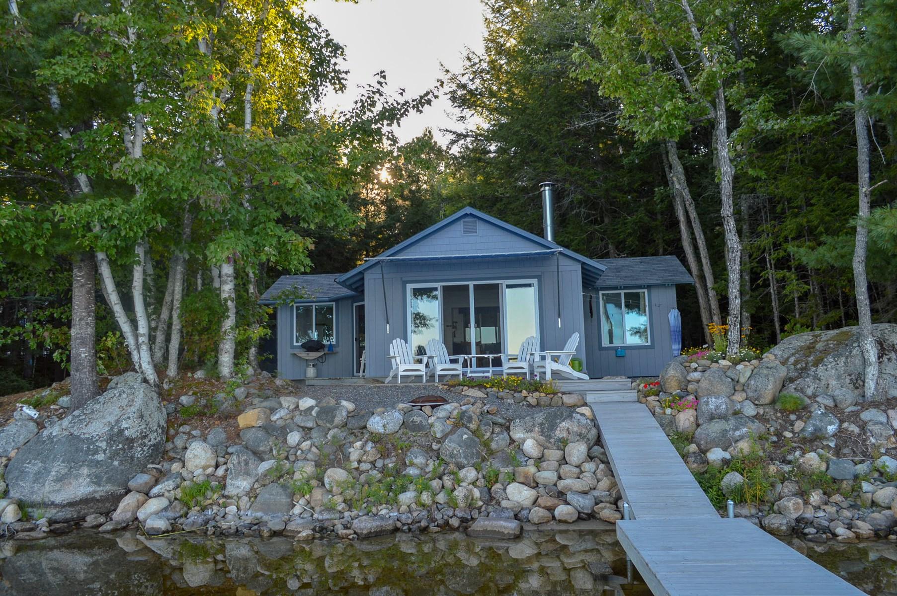 Lakeside Cabin For Sale | Burlington, Maine