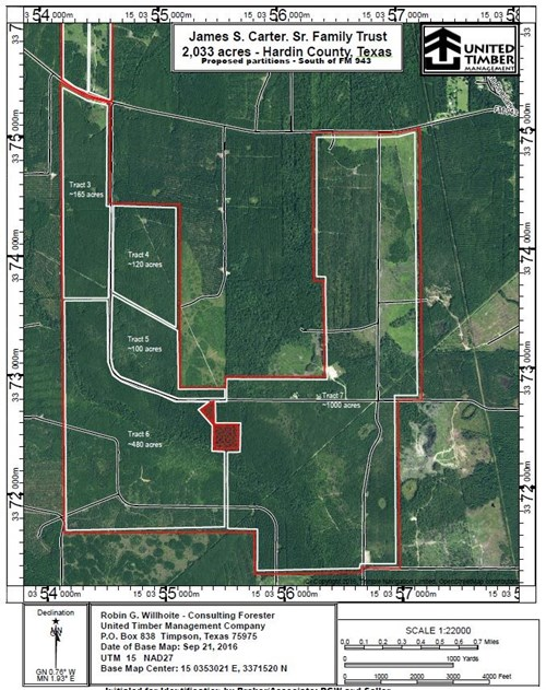 2,033 ACRES PINE TIMBERLAND JOINS BIG THICKET - WILL DIVIDE