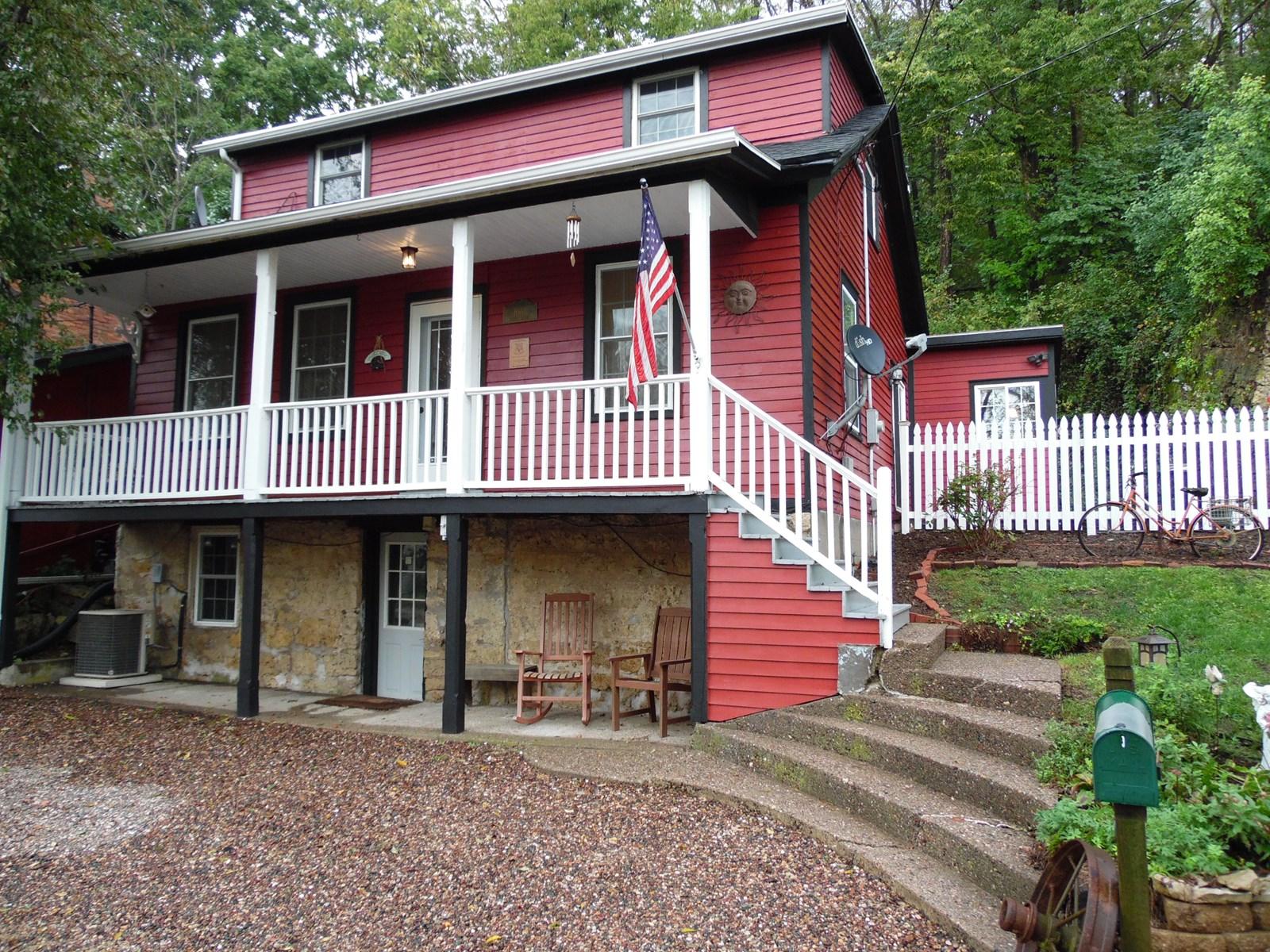 Historic Galena, IL Home with Garage