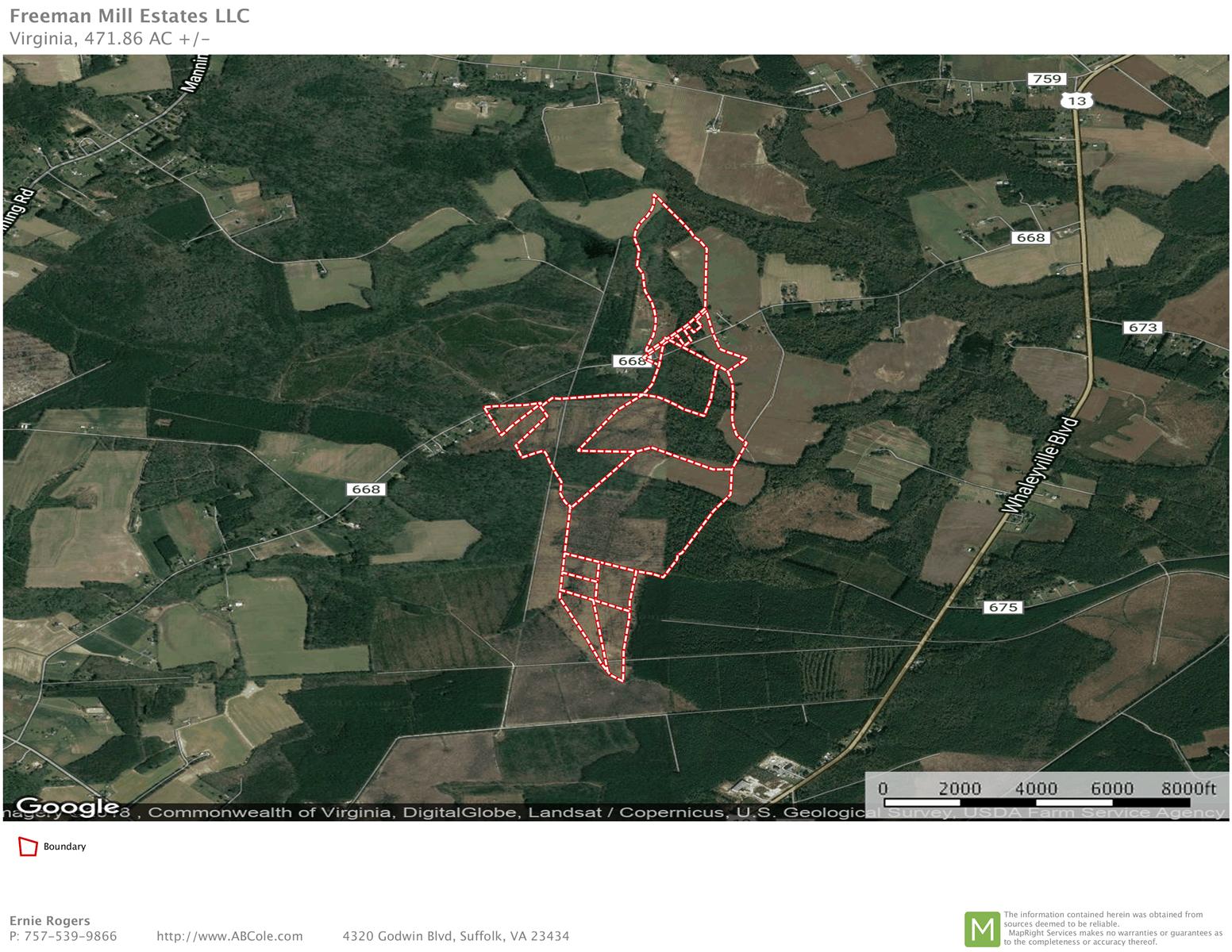 450± Acres Prime Farmland in Suffolk, VA