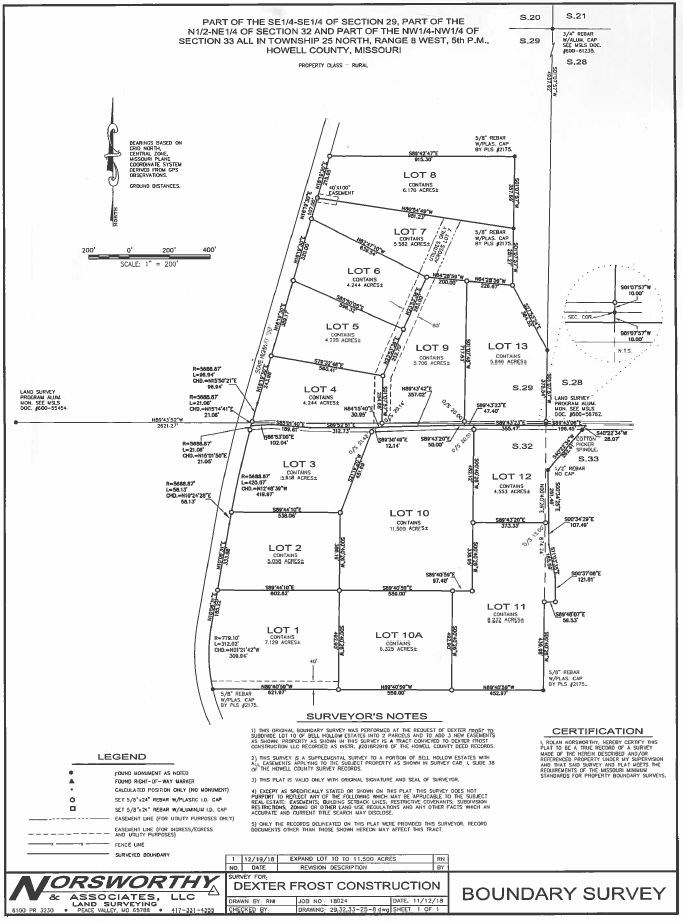 West Plains, MO. Residential Lots for Sale - 4+ Acres