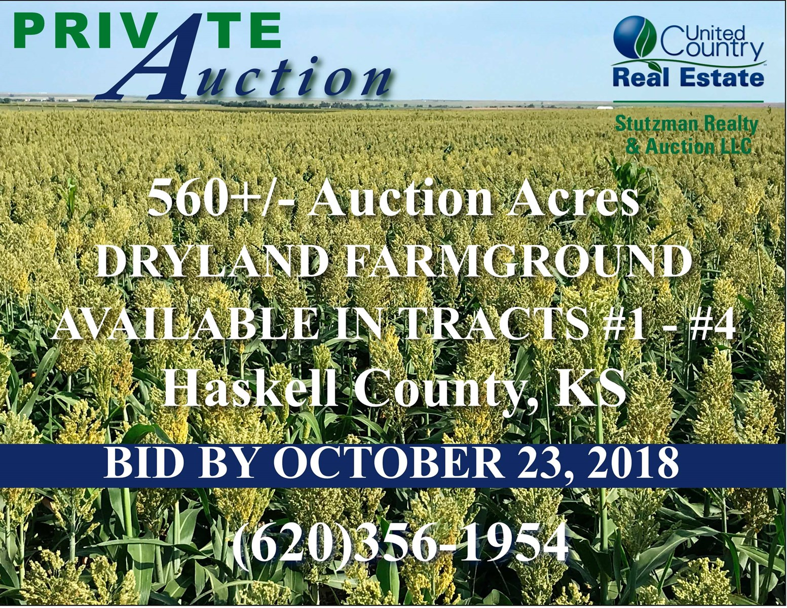 HASKELL COUNTY, KS - 560+/- ACRE DRYLAND FARM
