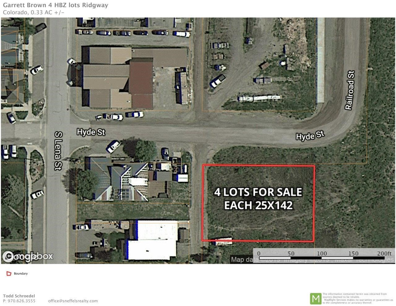 Four Multi-Use Lots For Sale in Downtown Ridgway SW Colorado