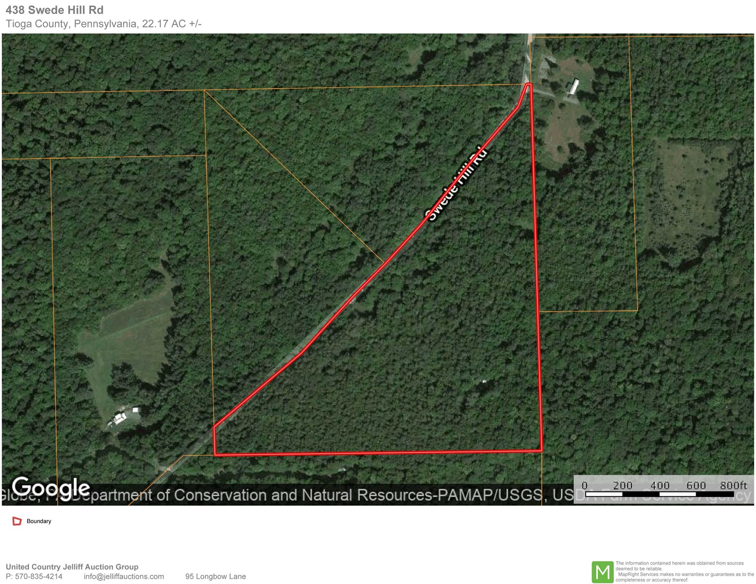 Tioga County, PA Wooded Hunting or Building Acreage For Sale