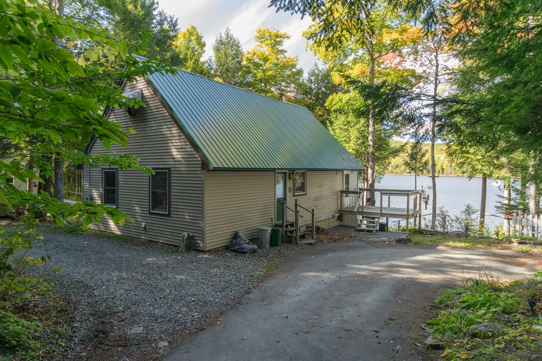Lakefront camp for sale on Sebec Lake in Sebec Maine