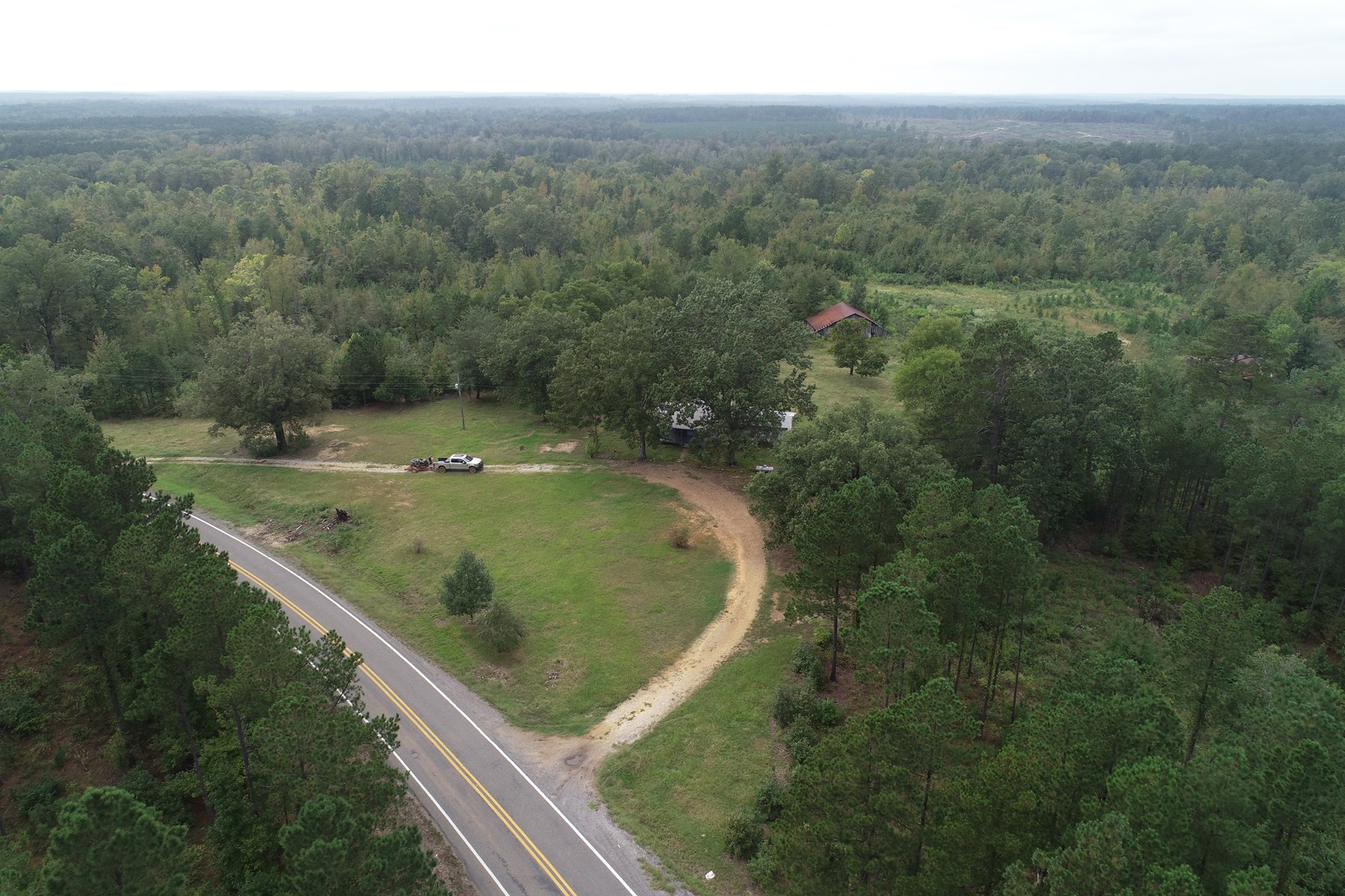 Home for sale with acreage in Clark County, AR, Hunting Land