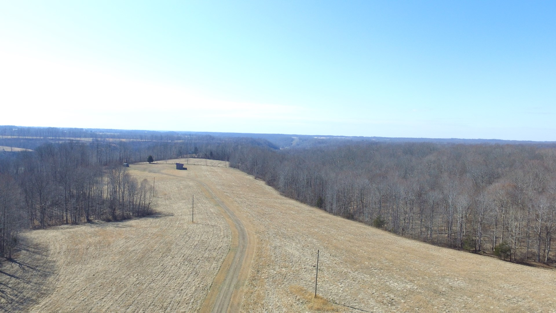 53+/- ACRES/BASEMENT/UTILITIES/EQUIP. SHED-HUSTONVILLE, KY.
