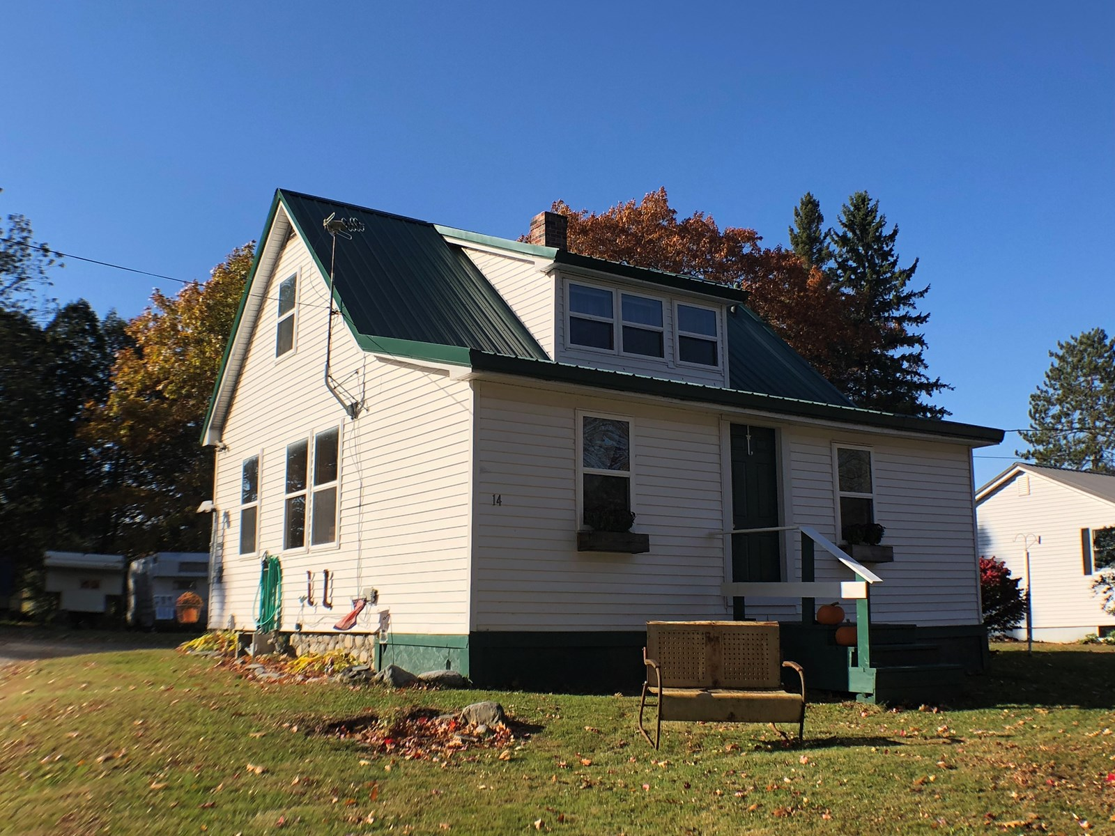 Charming two bedroom cape home for sale in Howland Maine.