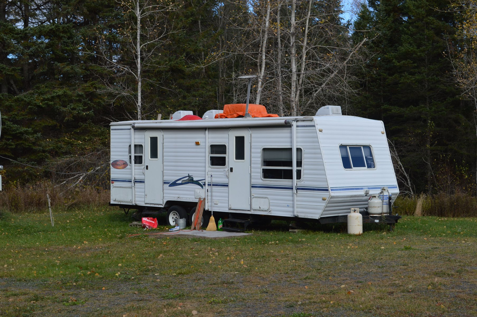 Land lot with camper for sale in Prentiss, Maine
