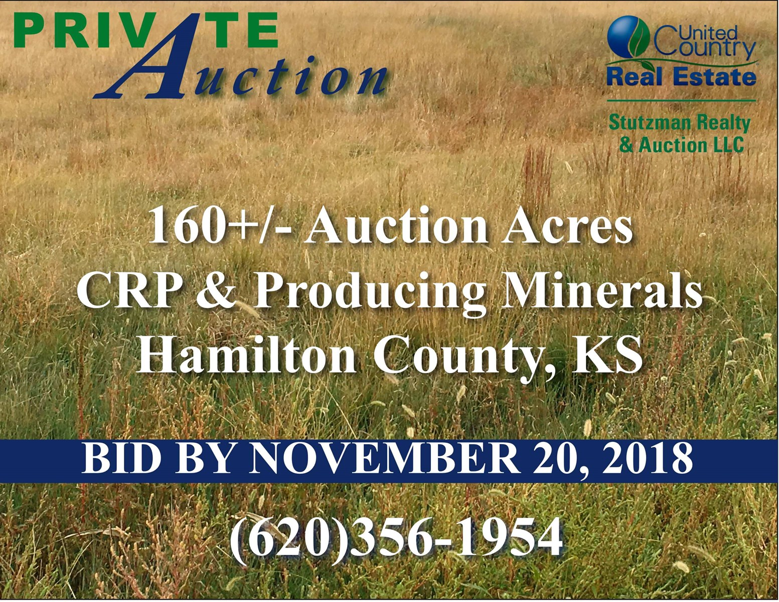 160+/- ACRES OF CRP & PRODUCING MINERALS HAMILTON CO., KS (