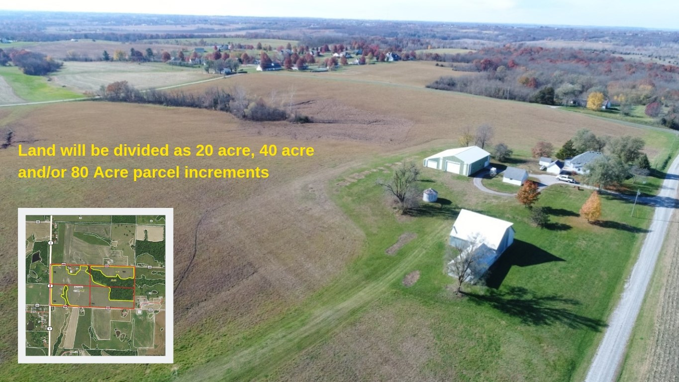 Coming Soon! Ritter Family Farm Land Sale 80+/- Acres w/Home
