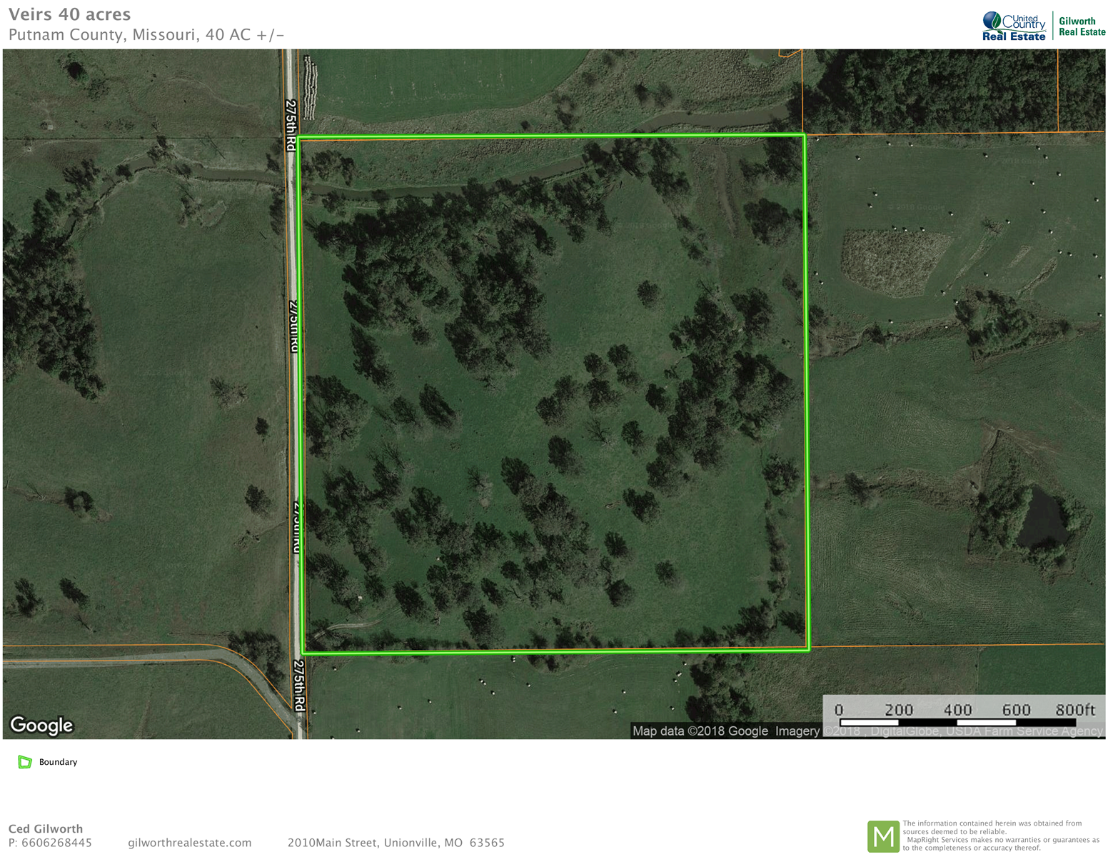 Land for sale in North MO just west of  Unionville, Missouri