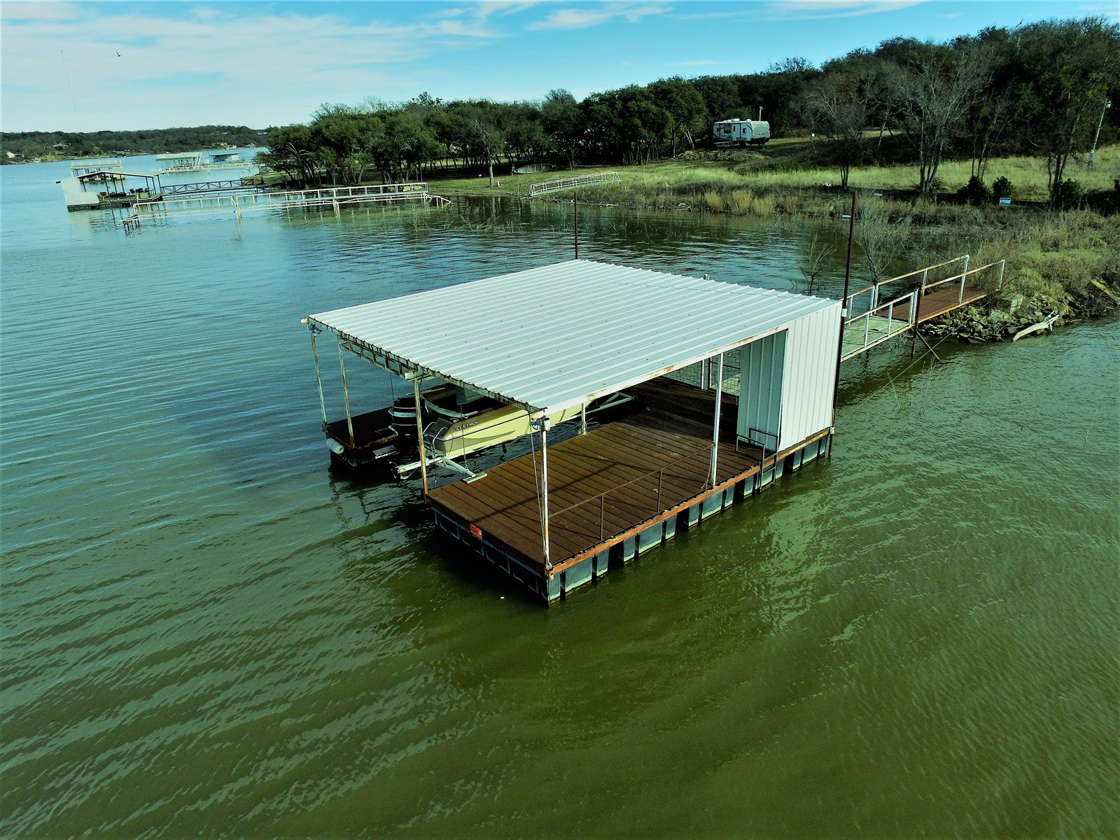 LOT READY FOR HOME OR RV ON LAKE BROWNWOOD