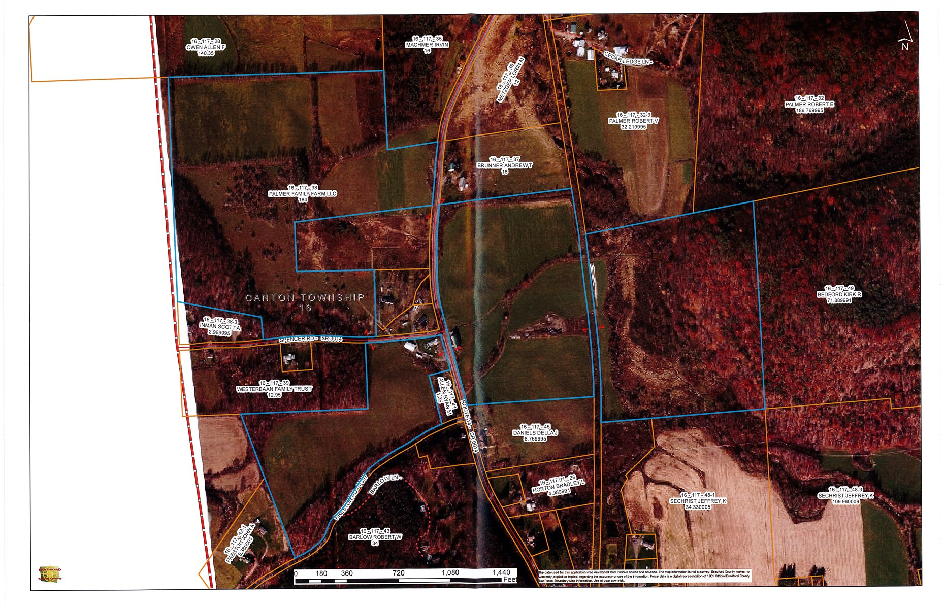 LAND FOR SALE BRADFORD COUNTY, PA - OGM RIGHTS CONVEY