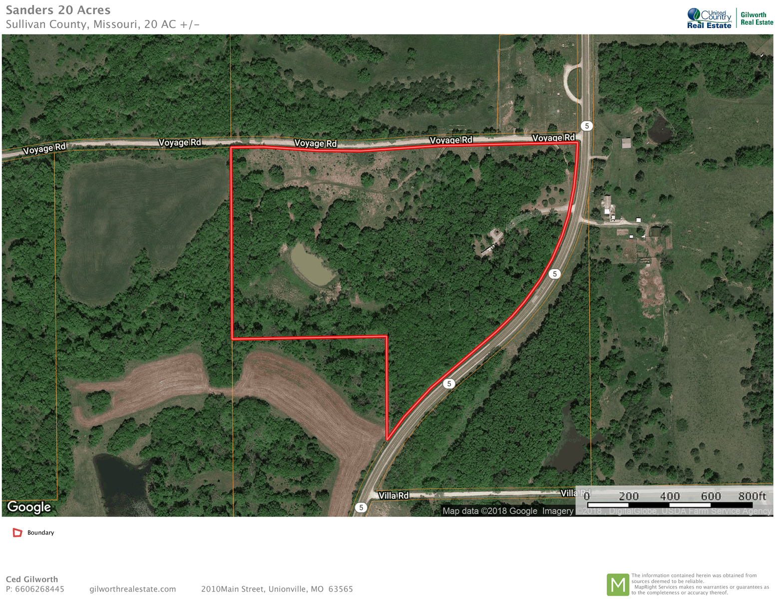 Recreational/hunting land for sale south of Milan MO.