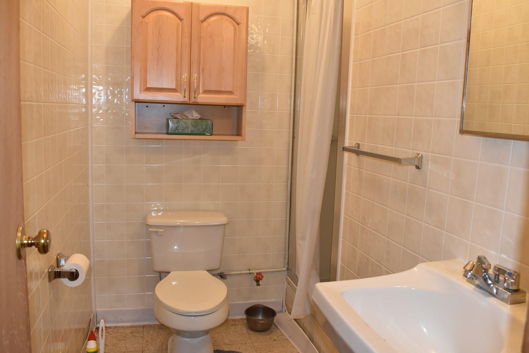 3/4 bath-basement