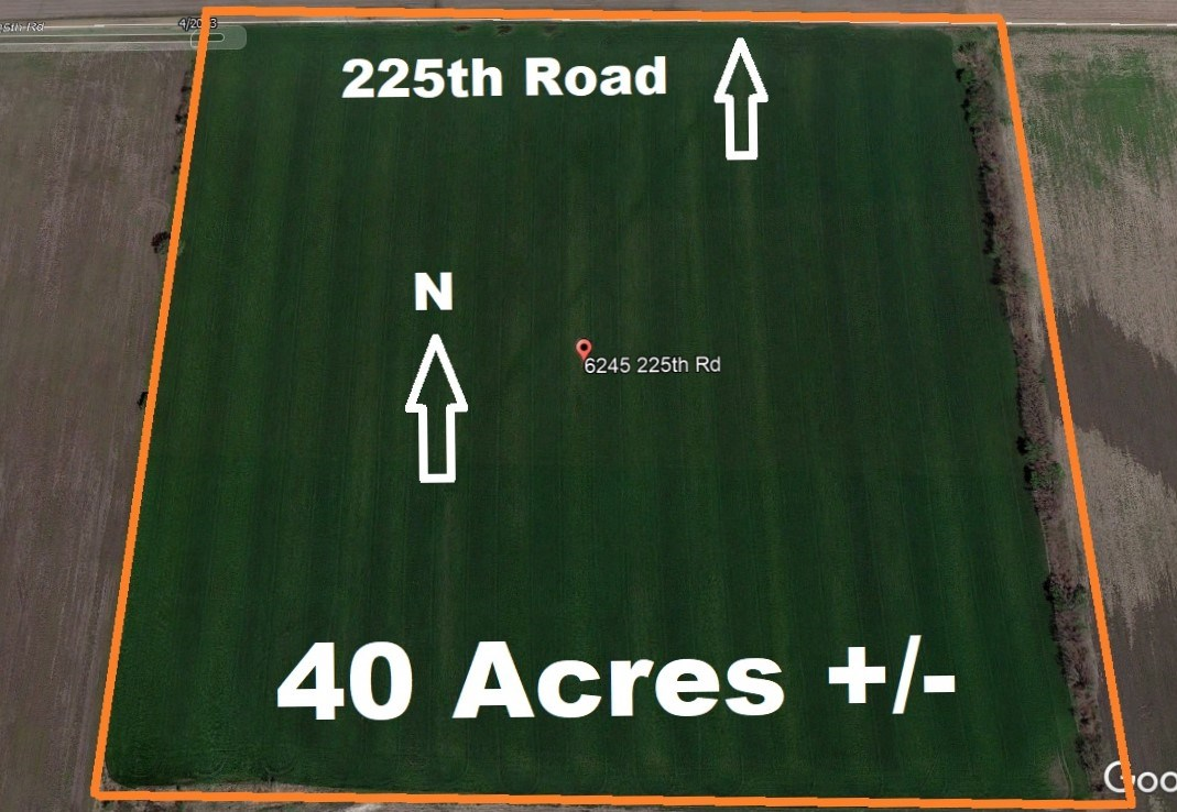 Chanute, KS Creek-Bottom Cropland Selling at Live Auction