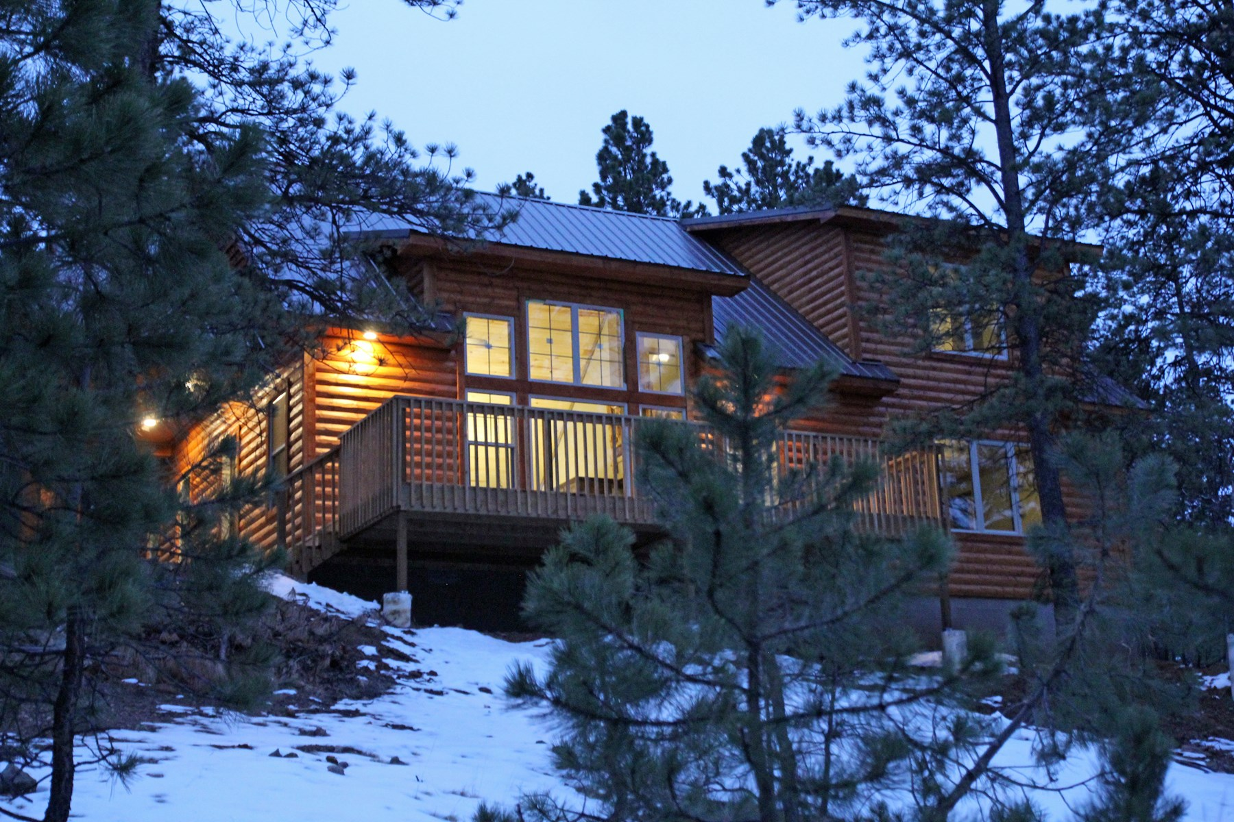 New Log Sided Home Cabin Colorado Mtns Acreage Pine Trees