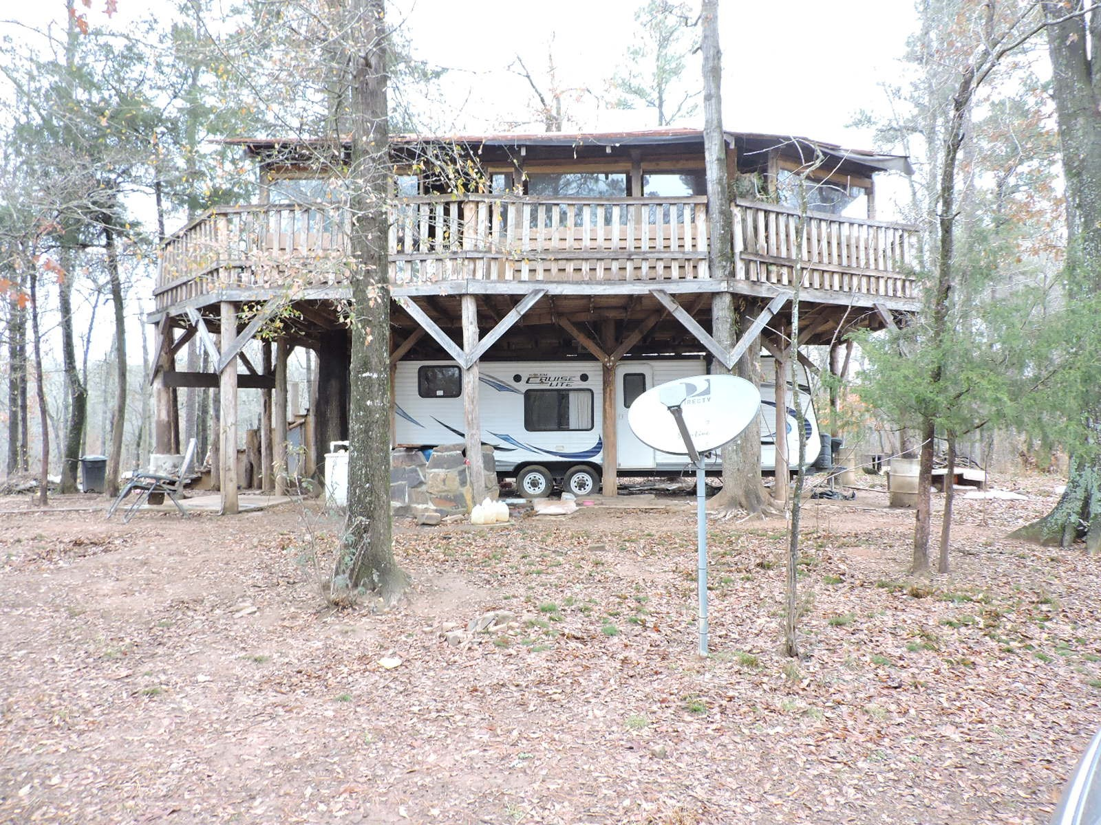13.69 Acres of Manicured Parklike Acres, Cabin, Tree House
