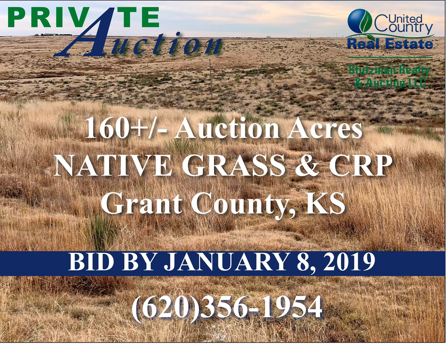 GRANT COUNTY, KS 160+/- ACRES CRP & NATIVE GRASS