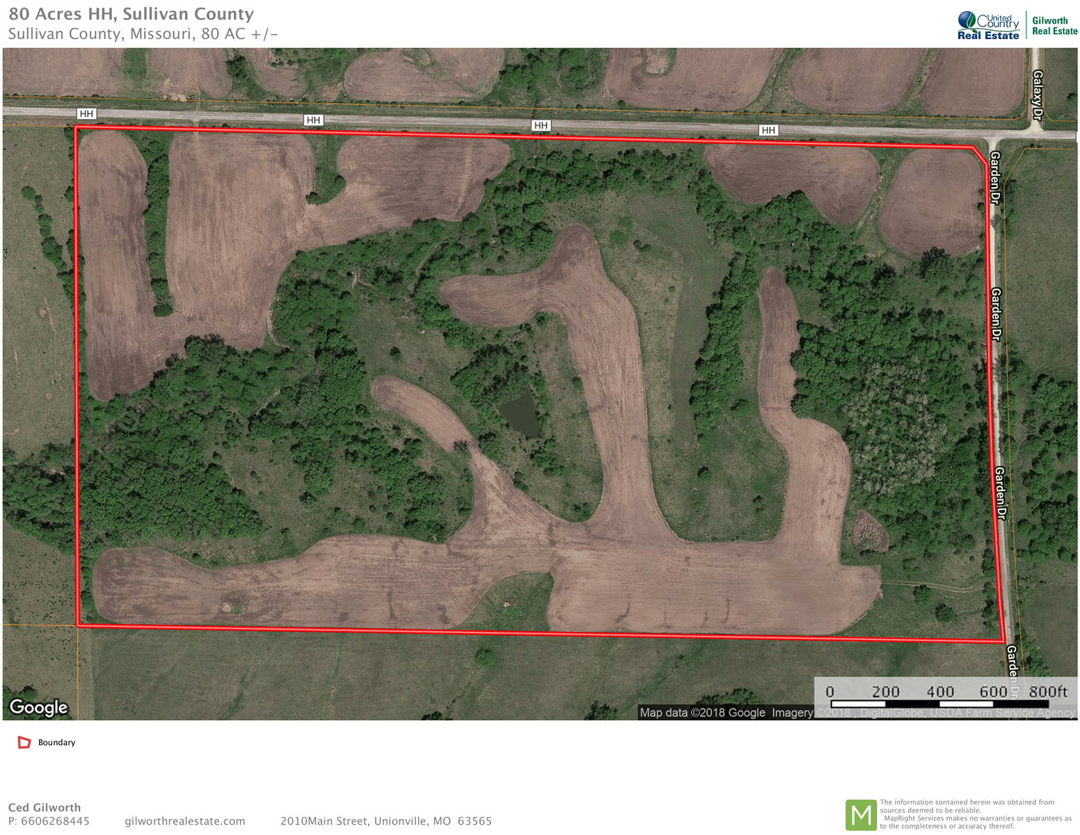 Land for sale near Green City, MO with hunting/row crop