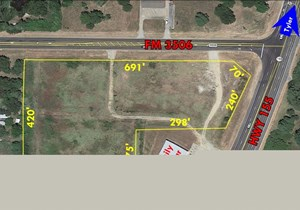 5+ ACRES OF LAND ON CORNER PARCEL WITH HWY 155 FRONTAGE