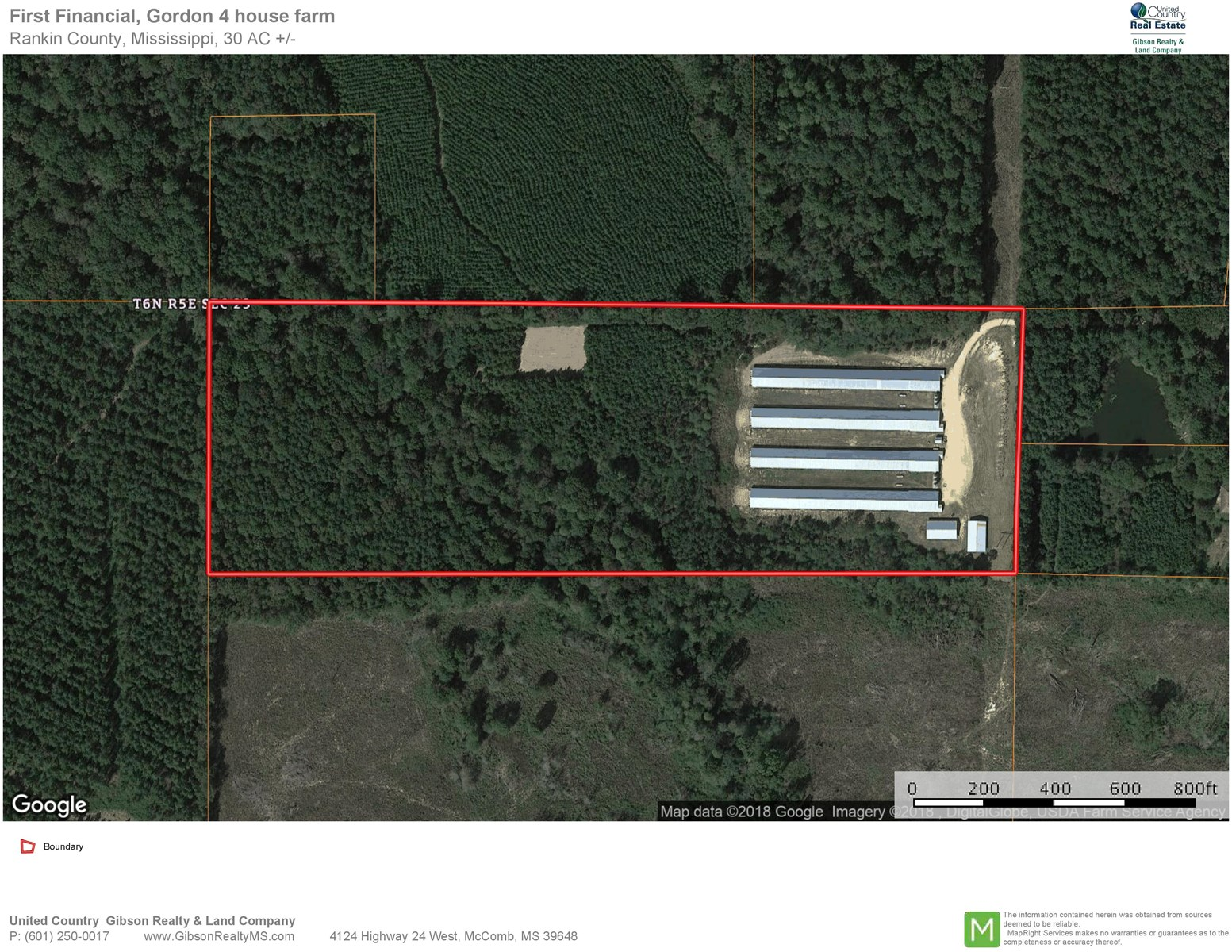 4 Broiler House Poultry Farm & Land for Sale Rankin Co MS