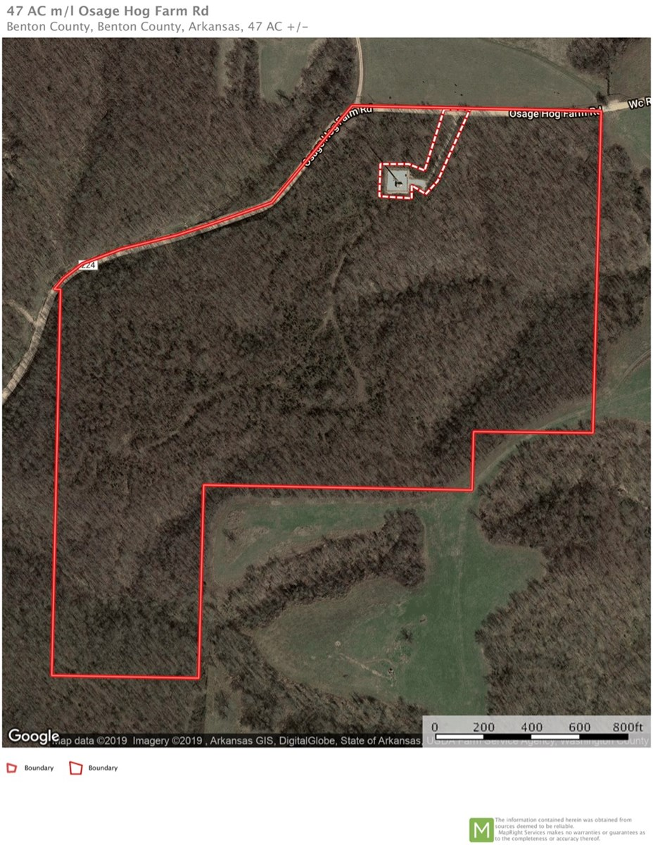 47 +/- Secluded Acres For Sale in Northwest Arkansas