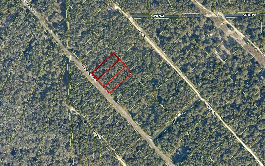 1/3 Individually platted residential lots in South Suwannee