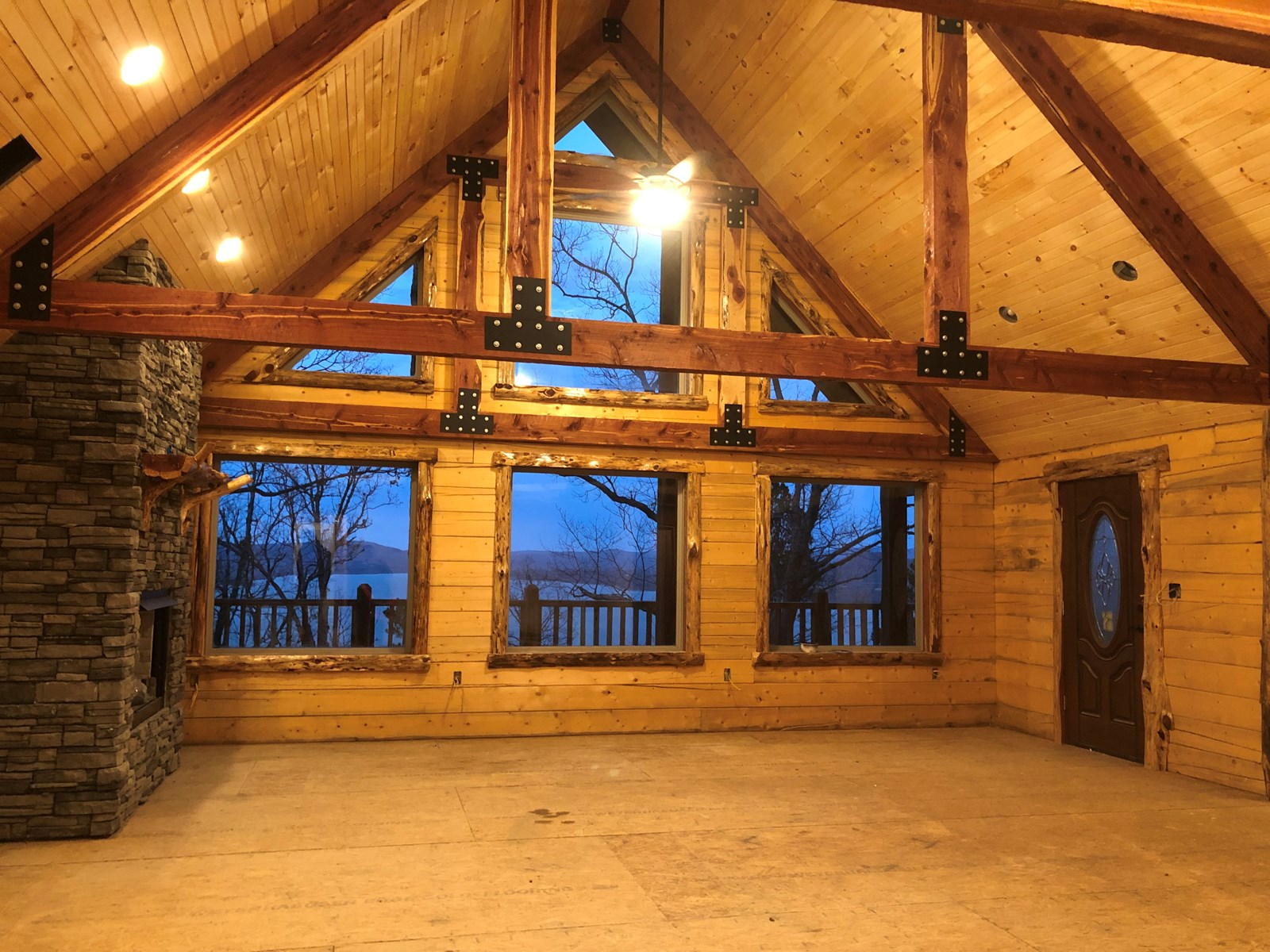 Log Home for Sale Clayton OK-Land w/Cabin Sardis Lake OK