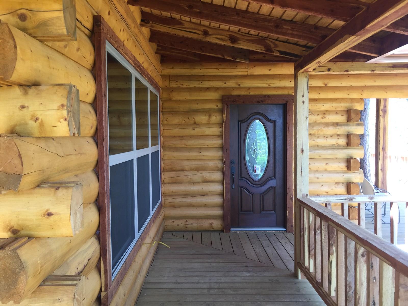 Log Home for Sale OK-Land w/Cabin Sardis Lake Clayton OK