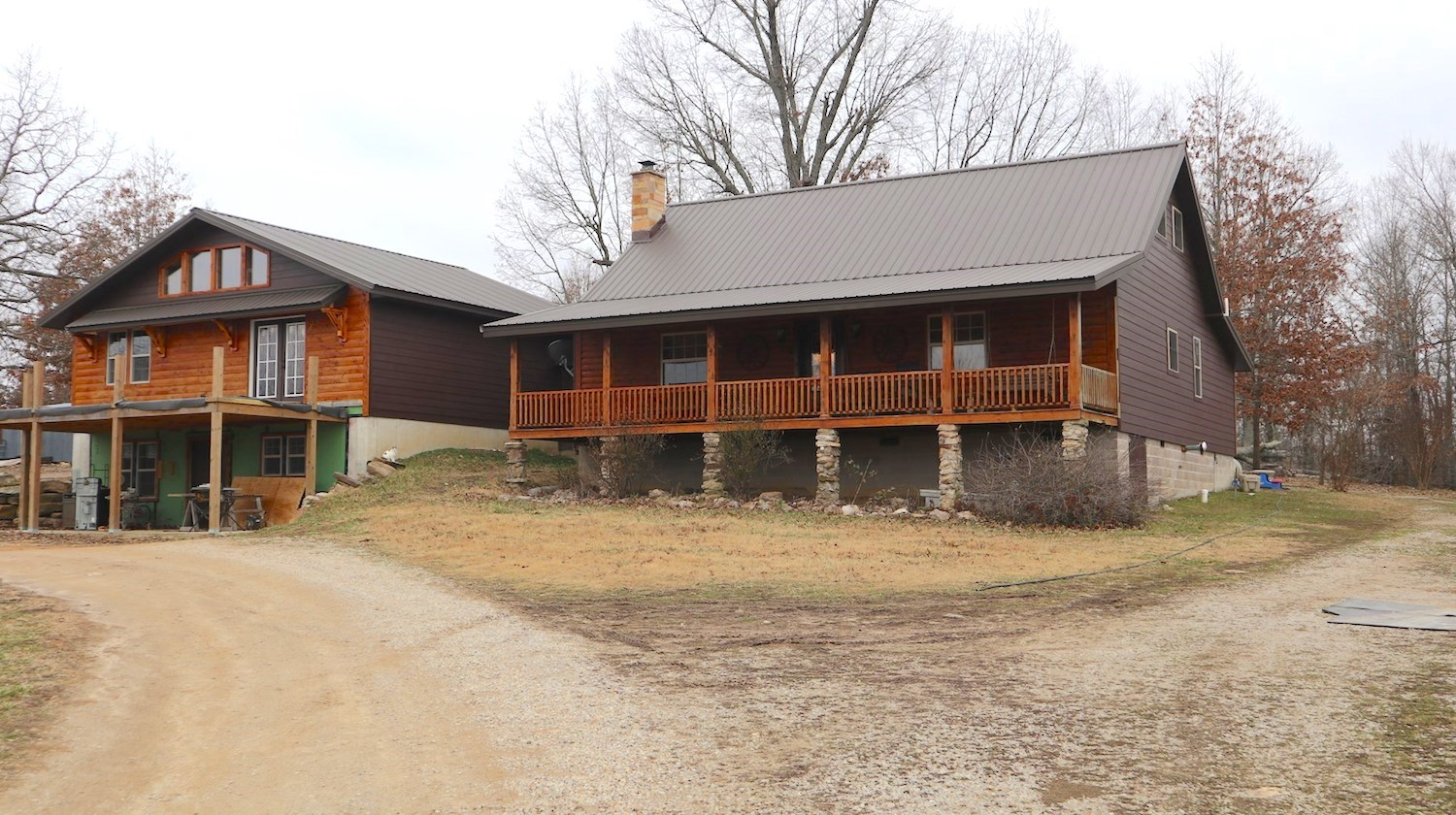 Log Sided Country Home & Farm for Sale near Salem Arkansas