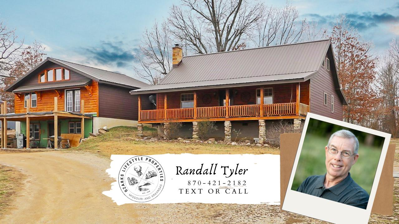 Log Sided Country Home & Farm for Sale near Salem Arkansas