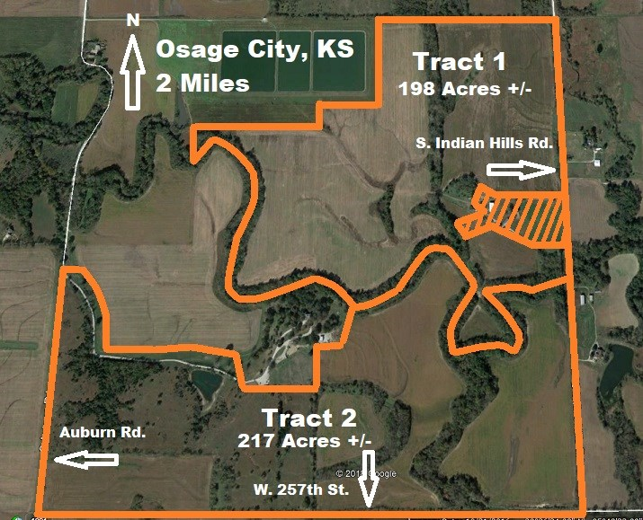 Land to Sell At Auction in Osage County Kansas