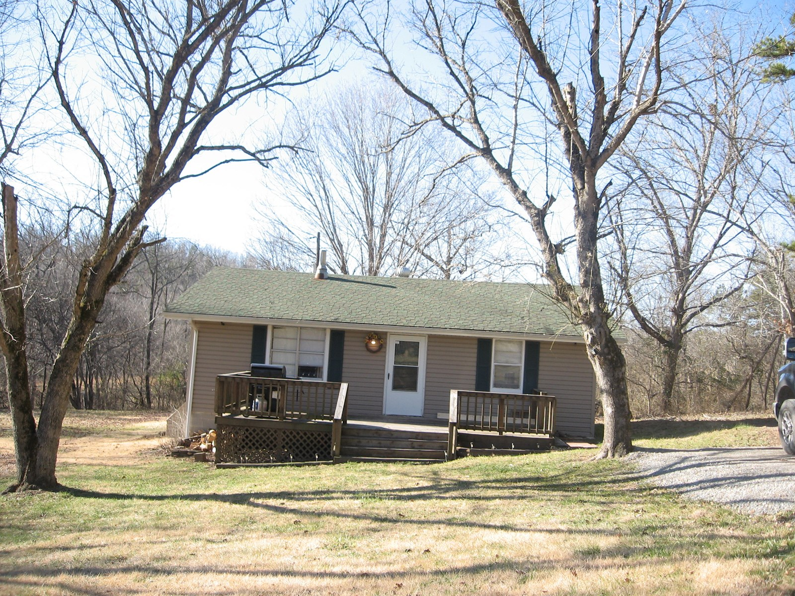 2-BR, 1-BA HOME ON 3.8 ACRES:
