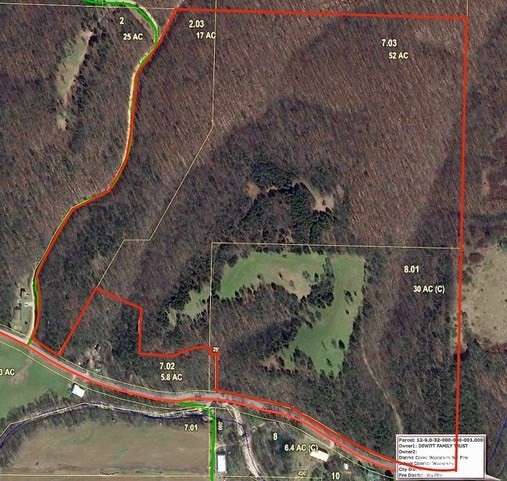 Hunting, mature woods, pasture and pond! Build a dream home!