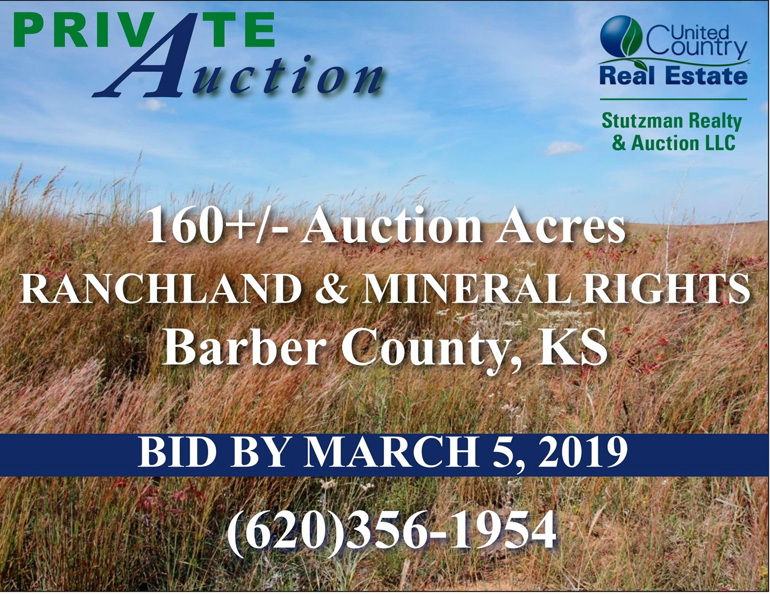 BARBER COUNTY KS - PRIVATE AUCTION - 160+/- ACRES