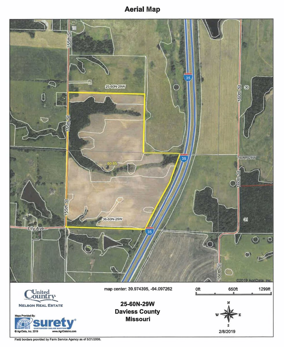 Tillable Farm Land For Sale in NW Missouri