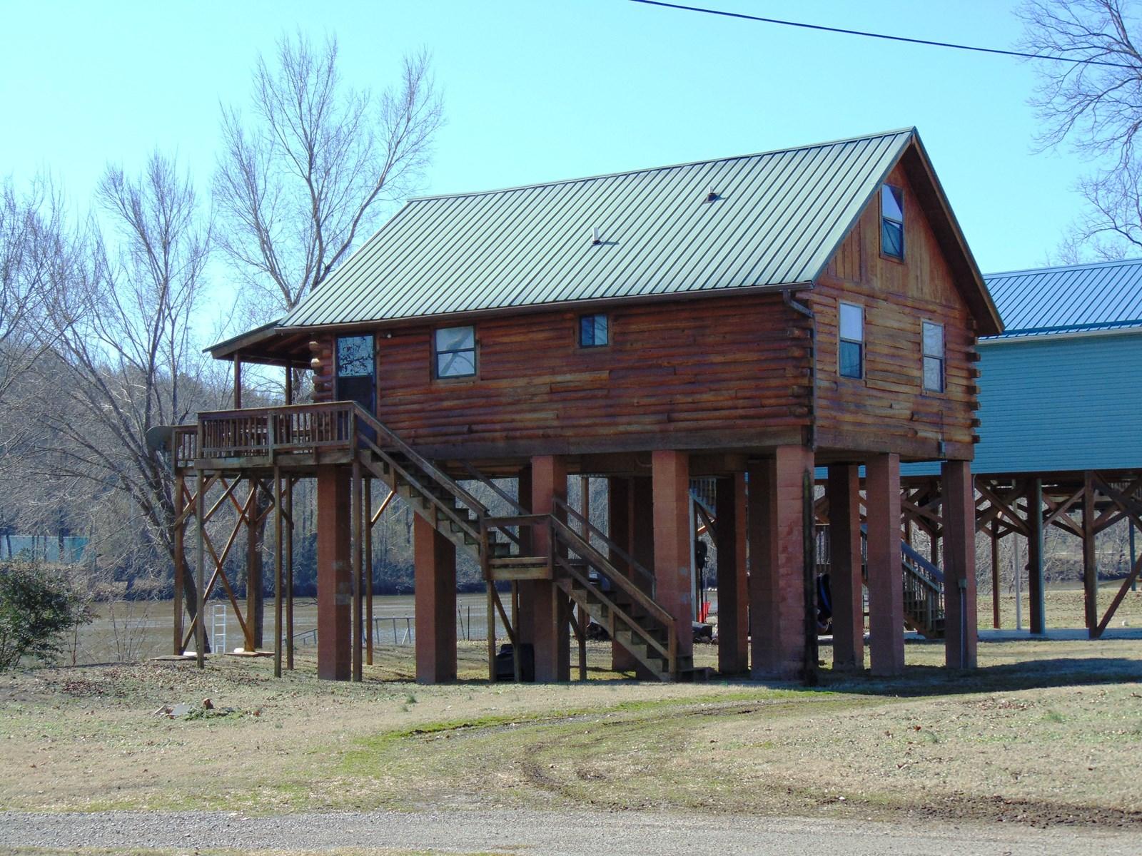 Log Cabin on Spring River for Sale