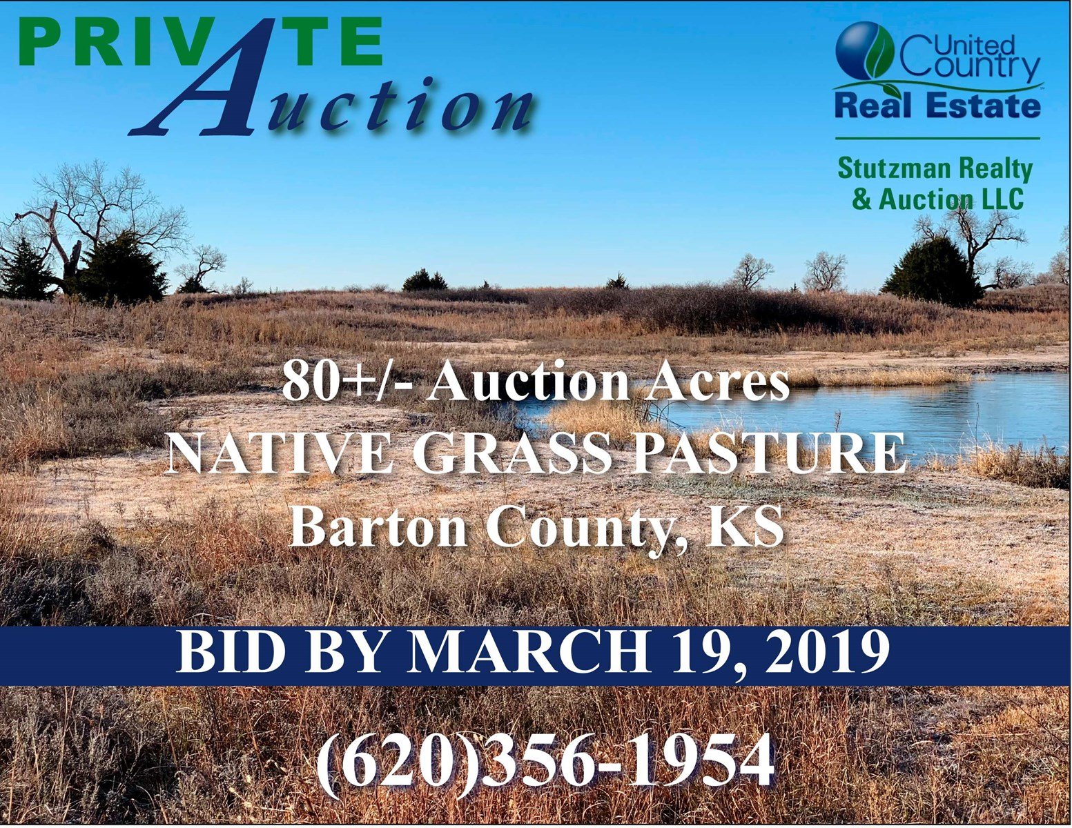 BARTON COUNTY, KS - PRIVATE AUCTION - UNDIVIDED 1/2 INTEREST 80 ACRES SURFACE & MINERAL RIGHTS