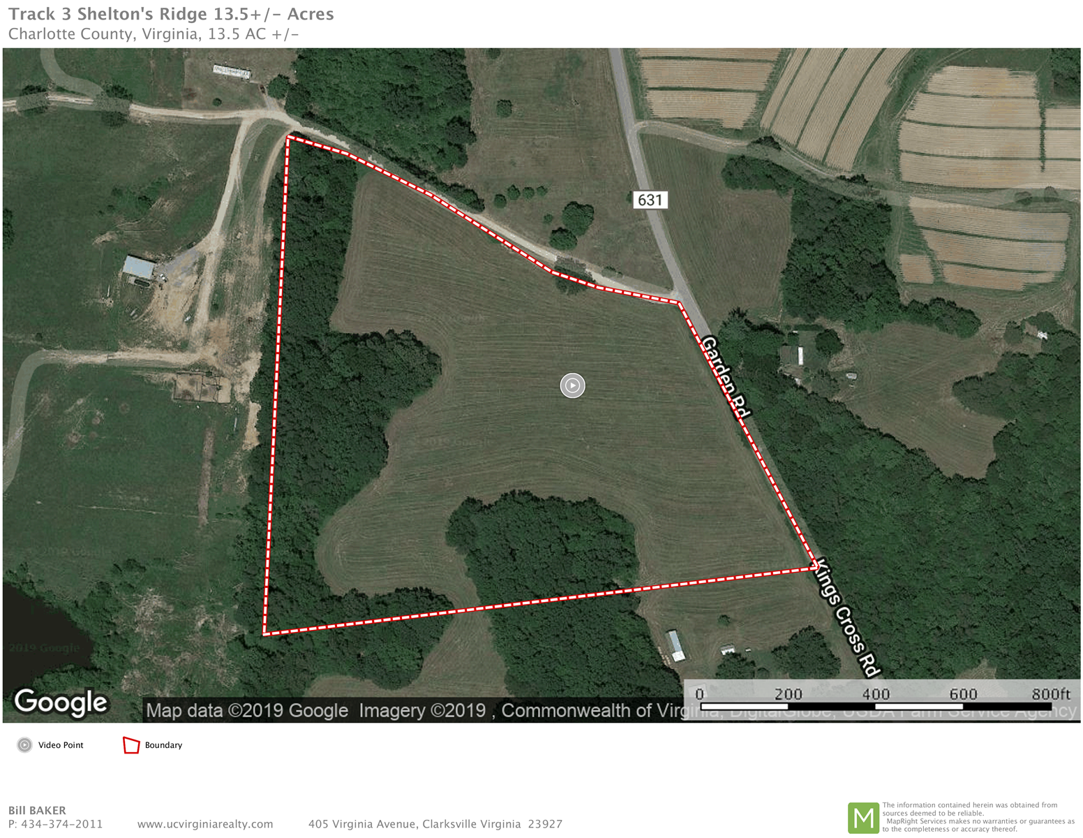 13.5 ACRE LAND TRACT, RED OAK , CHARLOTTE COUNTY VIRGINIA