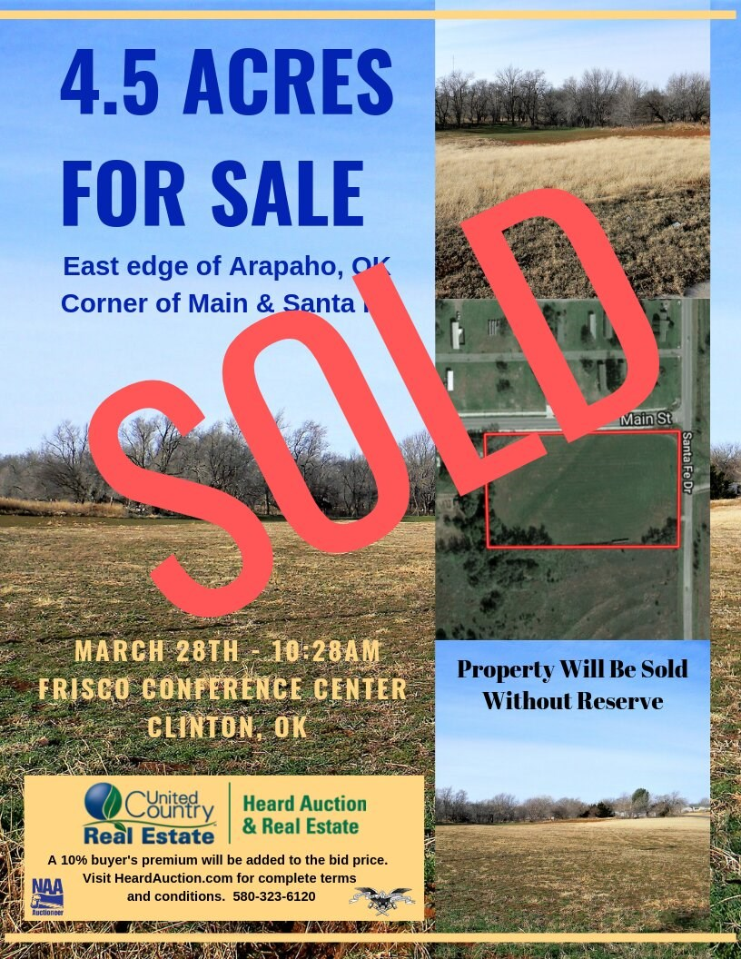 Commercial & Residential Land for Sale, Arapaho OK Custer Co