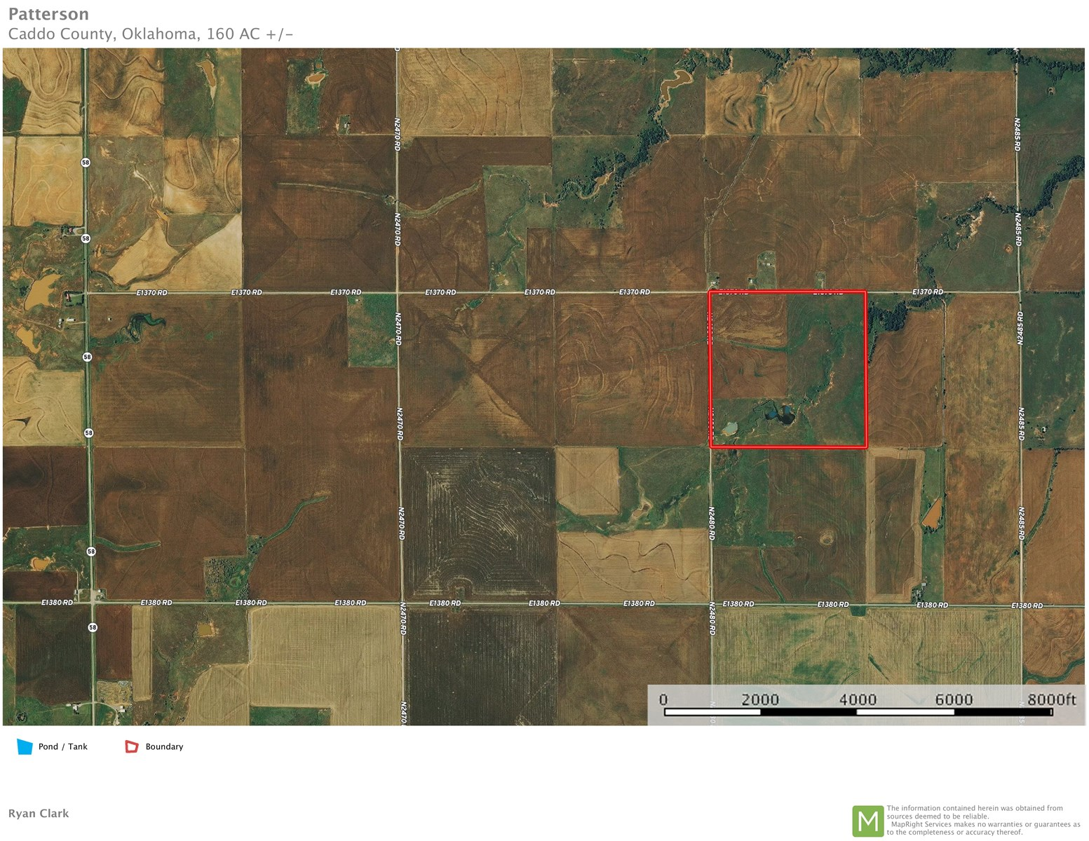 Oklahoma Farm/Ranch Land for Sale - Caddo County ±160 Acres