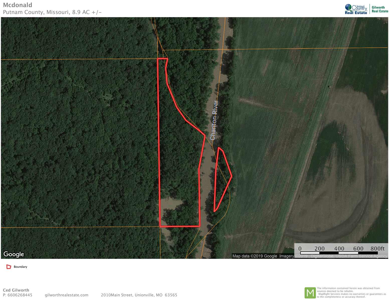 Timber acreage for sale in Eastern Putnam County, Missouri