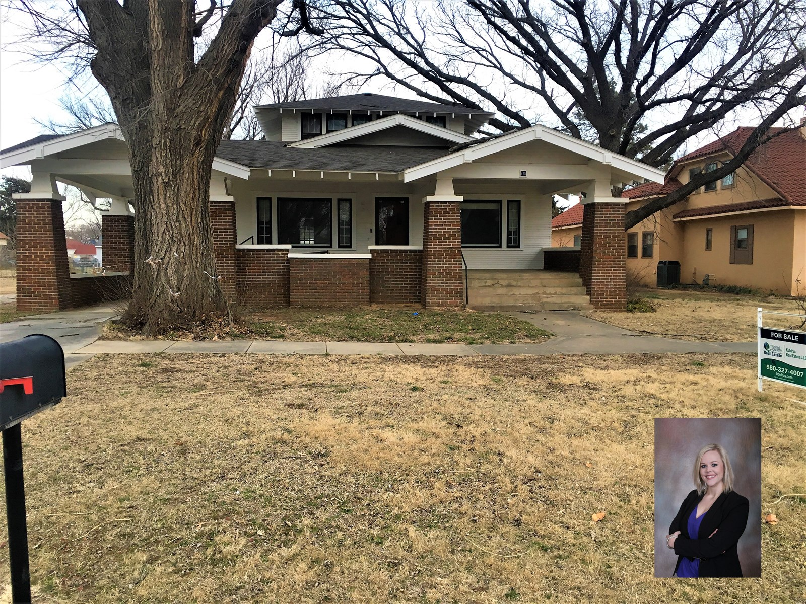 3 bedroom home with basement for sale in Kiowa KS